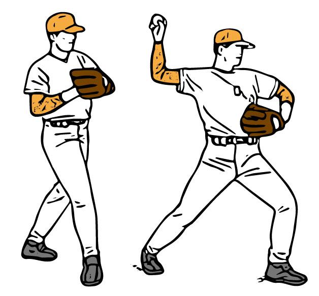 ボールを投げる選手