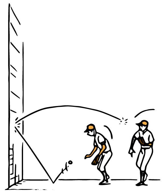 壁あてを行う選手