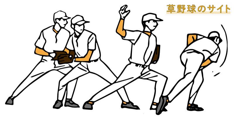 投球動作を行う選手