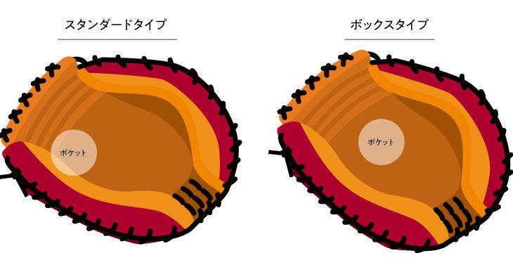 キャッチャーミットの2つの型付けの方法と特徴