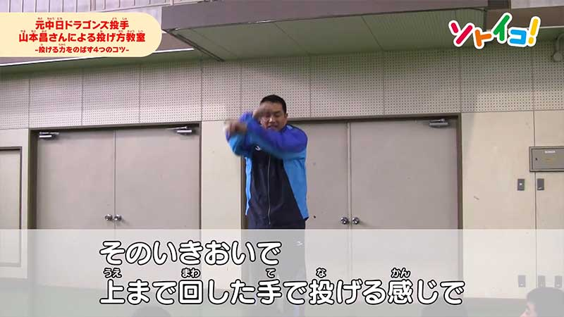 両腕を回す山本昌投手