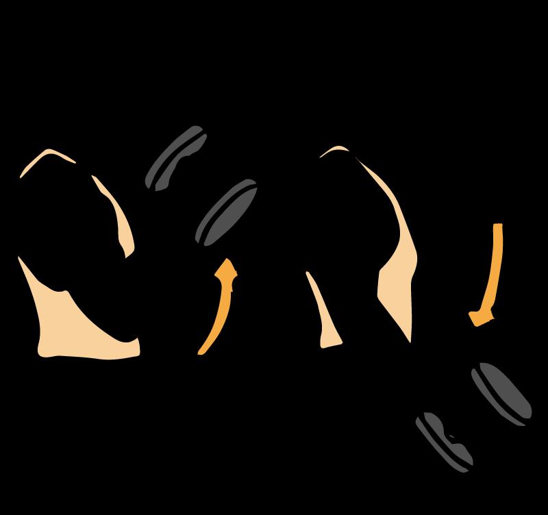 ダンベルで筋トレをする男性のイラスト