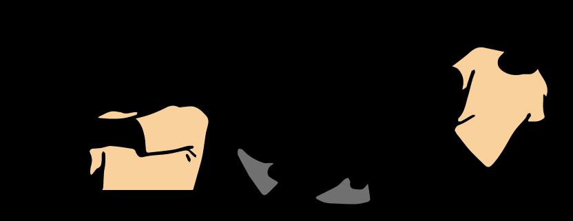 ストレッチをする男性のイラスト