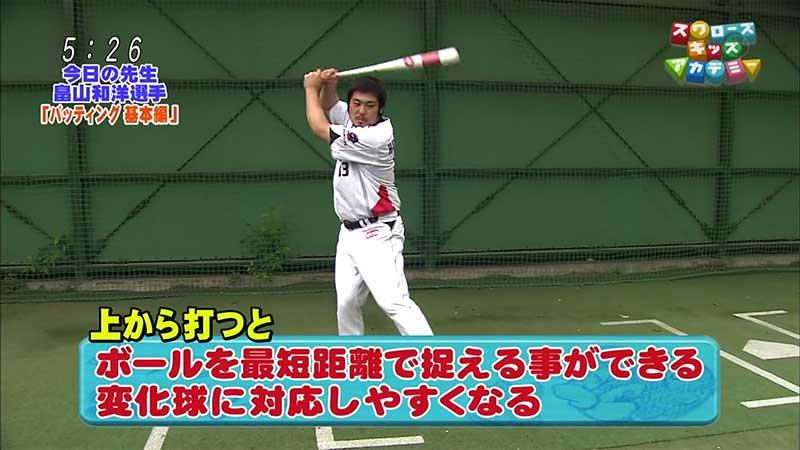 畠山和洋選手のスイング