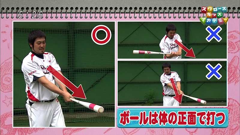 畠山和洋選手のインパクトの瞬間のコツ
