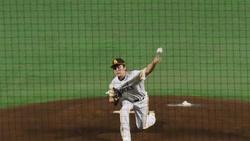 和田 毅選手のチェンジアップの腕の振り
