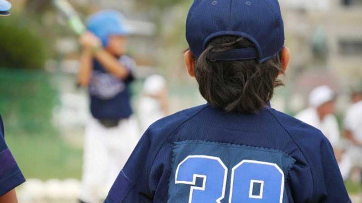 背番号39の少年野球の選手