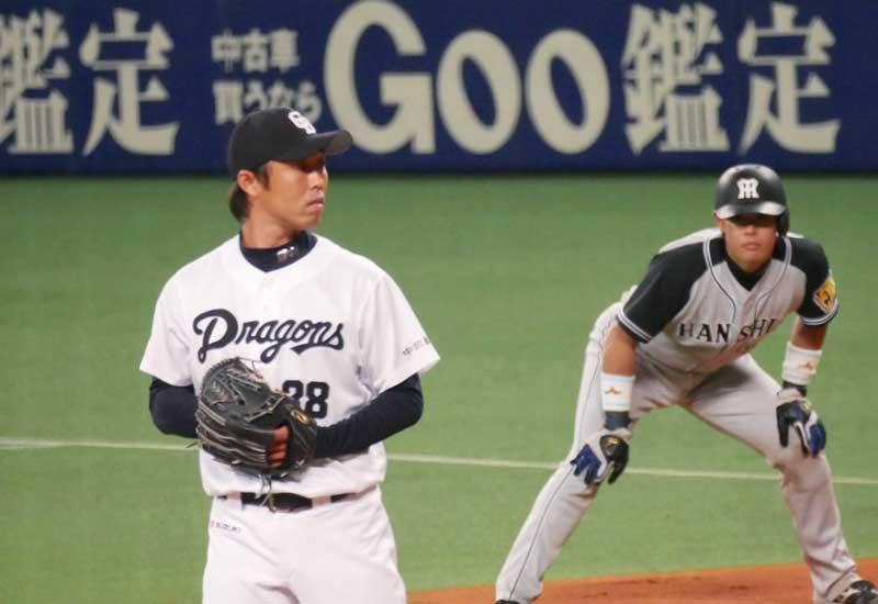 岩田 慎司選手のセットポジション