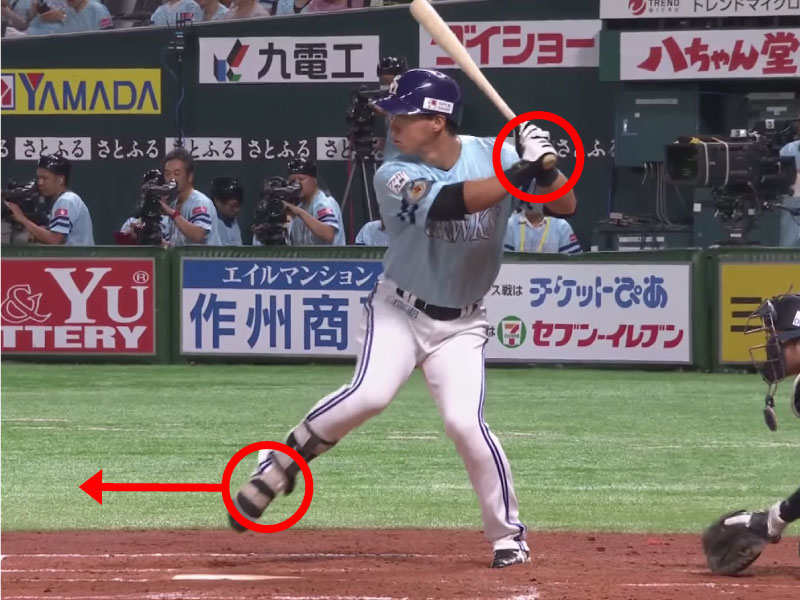 長谷川勇也選手のステップ