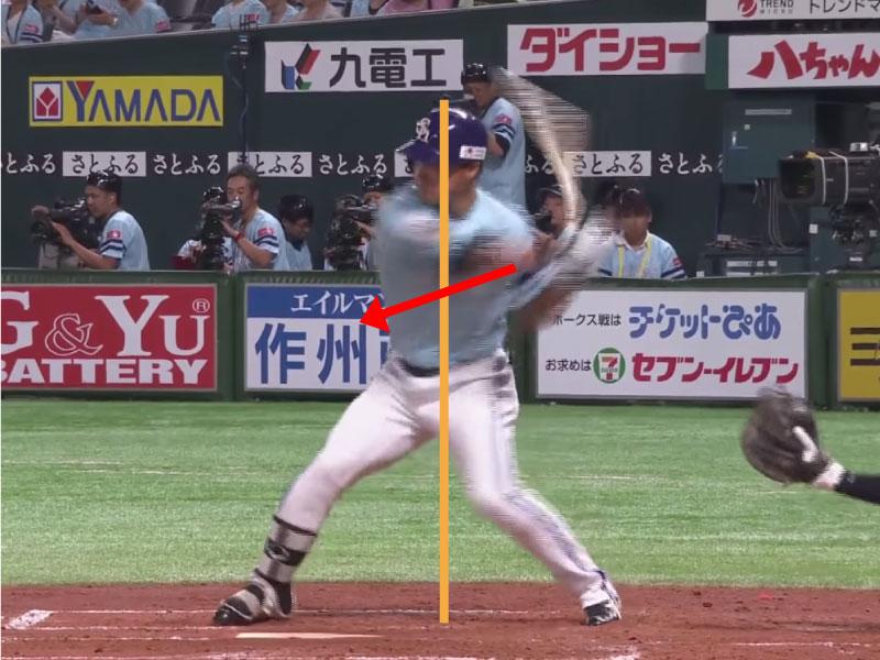 長谷川勇也選手のアプローチ