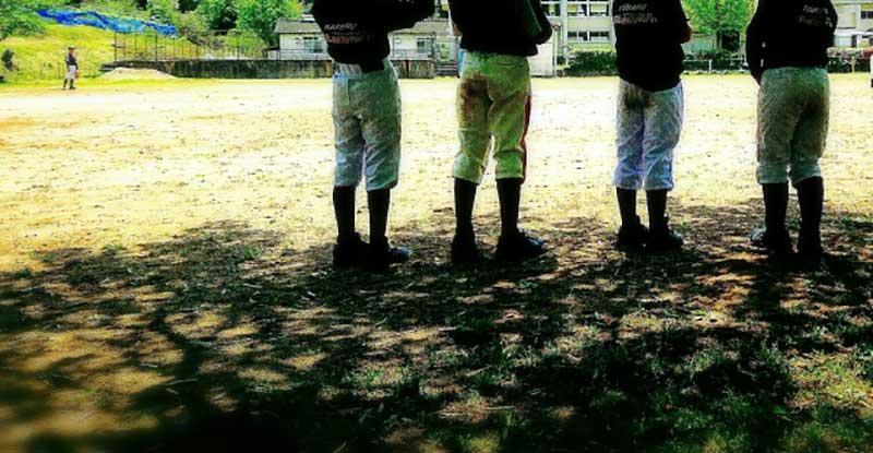 練習試合前の草野球チーム