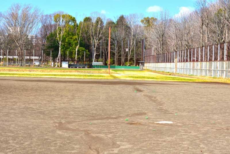 草野球の球場の外野