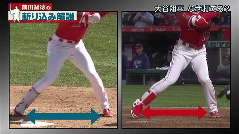 大谷翔平選手のバッティングフォームの下半身