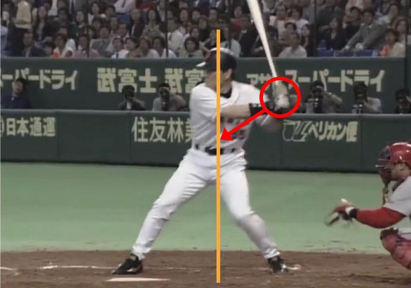 松井秀喜選手のバッティングのアプローチ