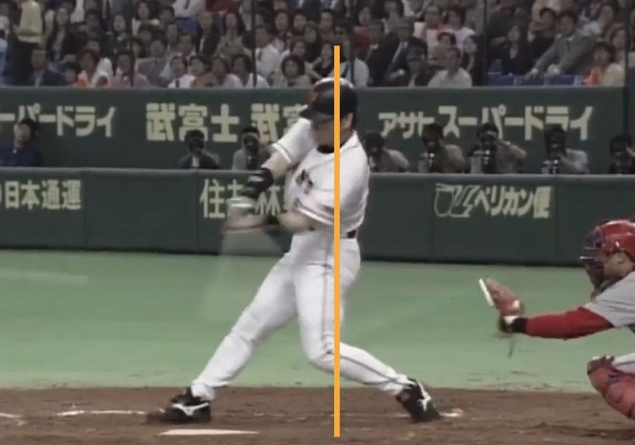 松井秀喜選手のバッティングのインパクト