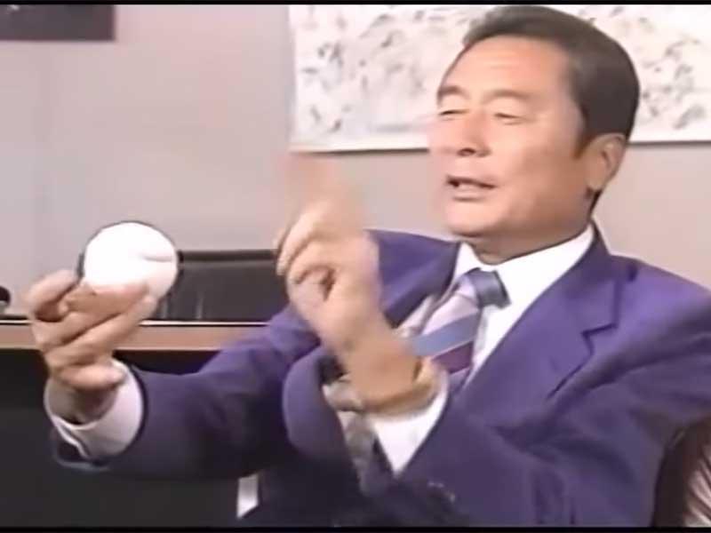 金田正一のカーブの握り