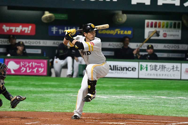 松田宣浩選手のバッティングフォーム