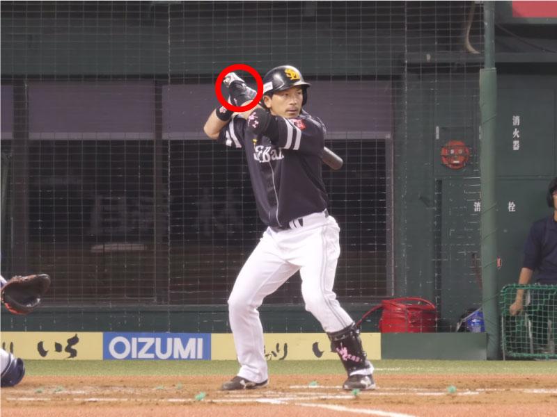 松田宣浩選手のスタンスと構え