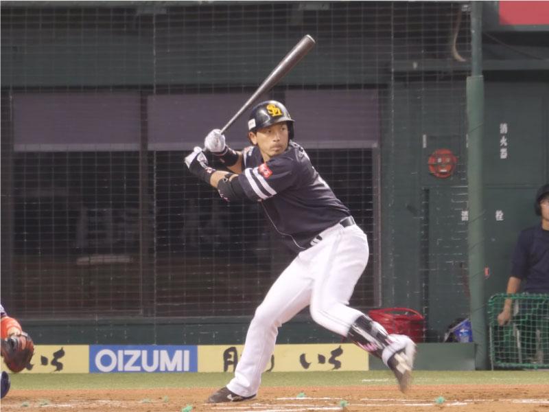 松田宣浩選手のステップ