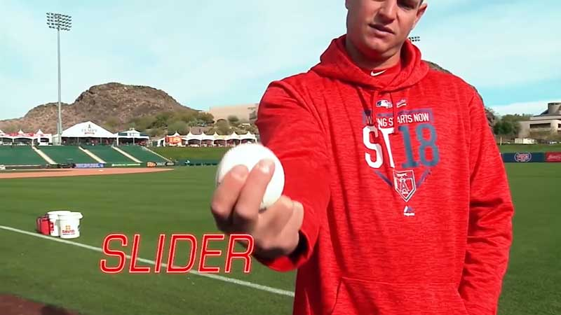 ギャレット・リチャーズ選手のスライダーの握り方