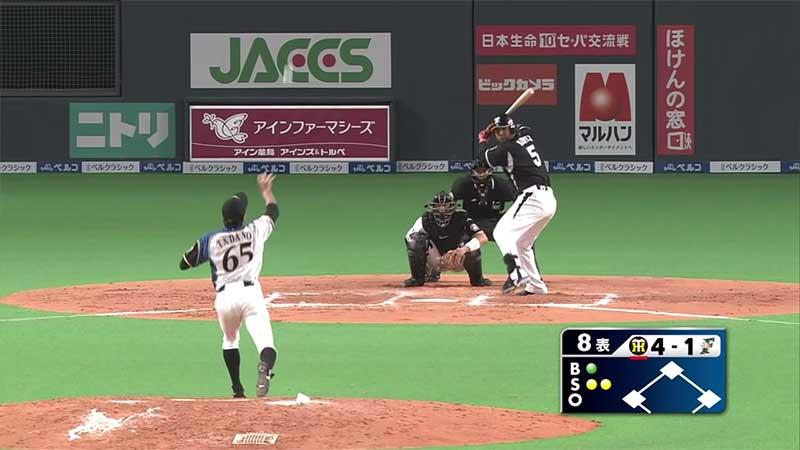 多田野数人選手のスローボール