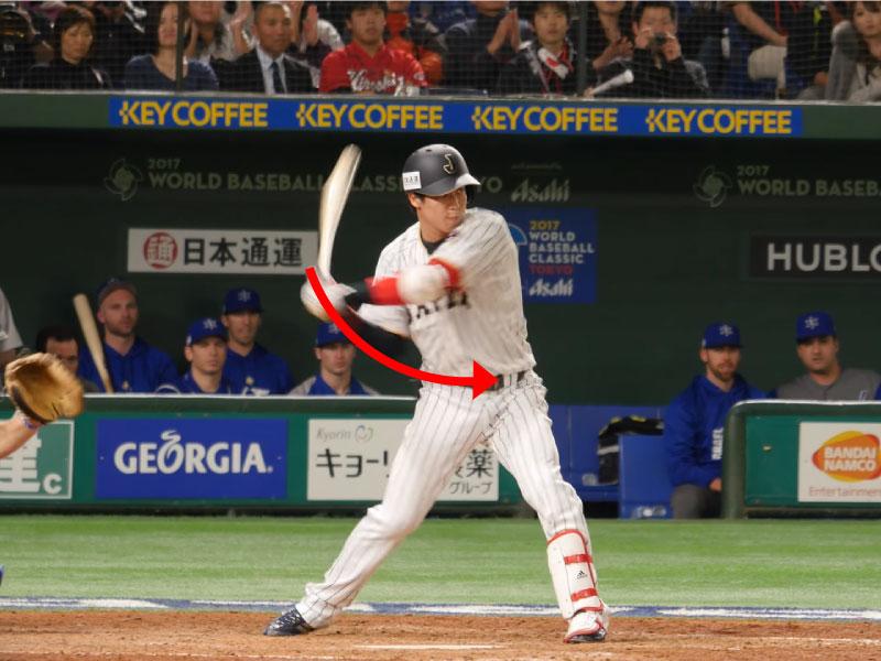 山田哲人選手のスイングのアプローチの続き