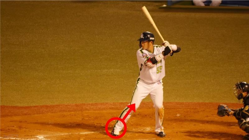 村上宗隆選手のバックスイング