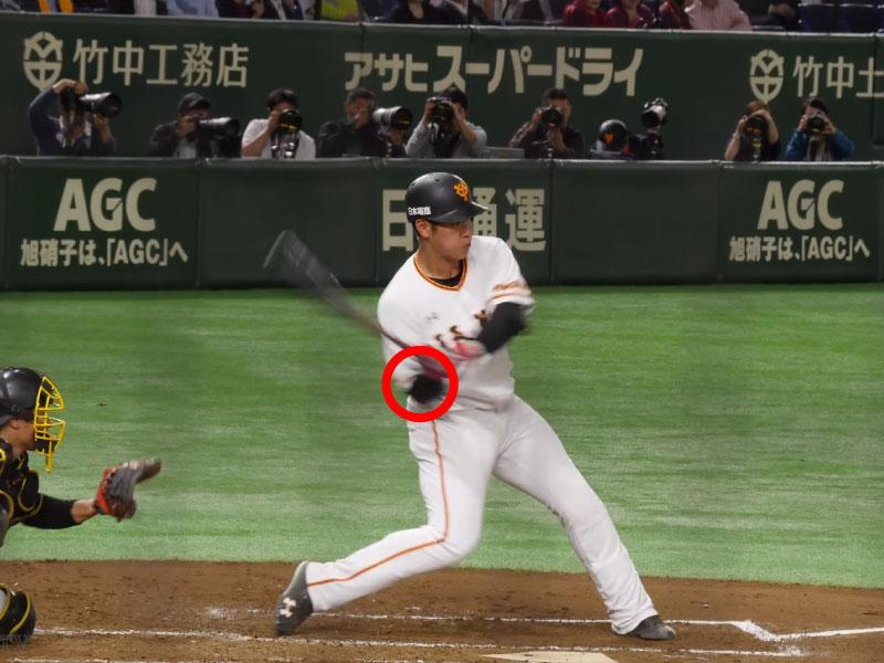 岡本和真選手のアプローチ