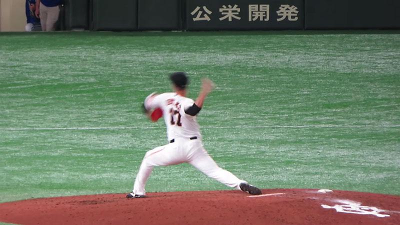 大竹 寛選手のチェンジアップの写真その2
