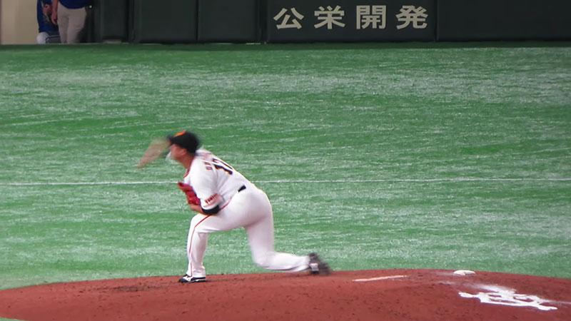 大竹 寛選手のチェンジアップの写真その3